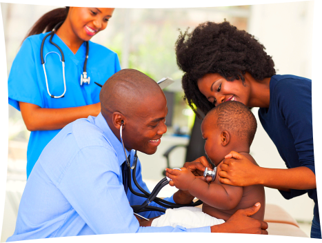 black-doctor-nurse-with-mother-and-child